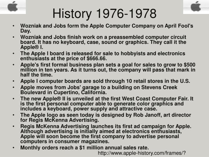 History 1976 1978