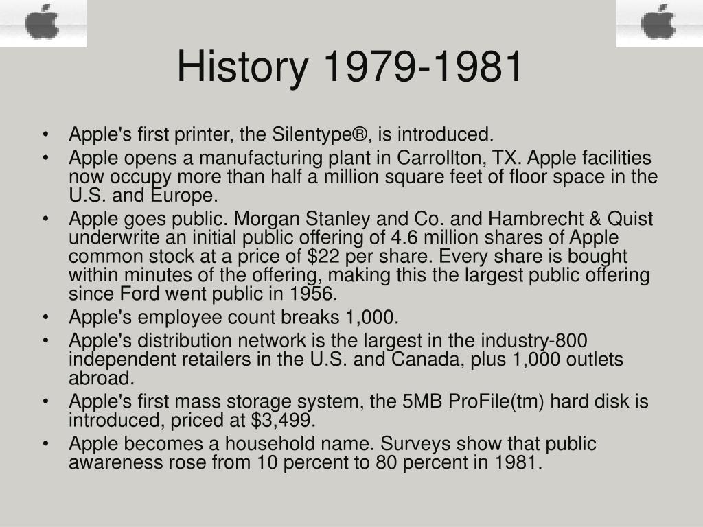 History 1979-1981