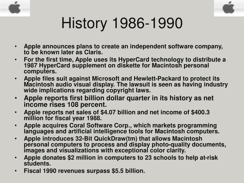 History 1986-1990