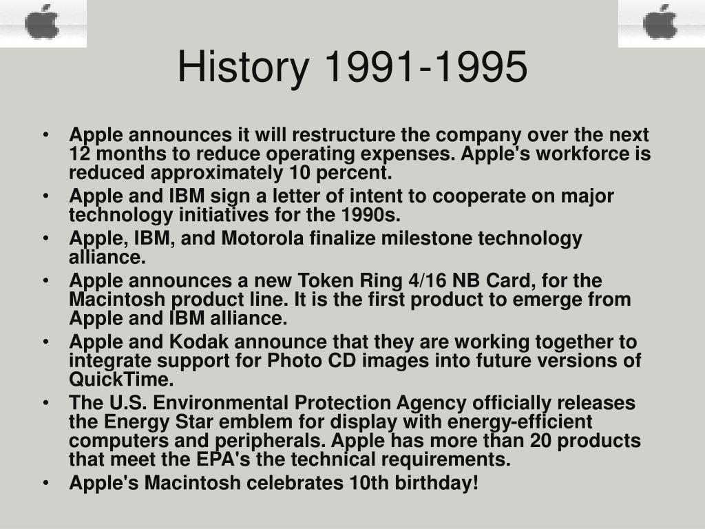 History 1991-1995