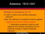 asbestos 1910 100119