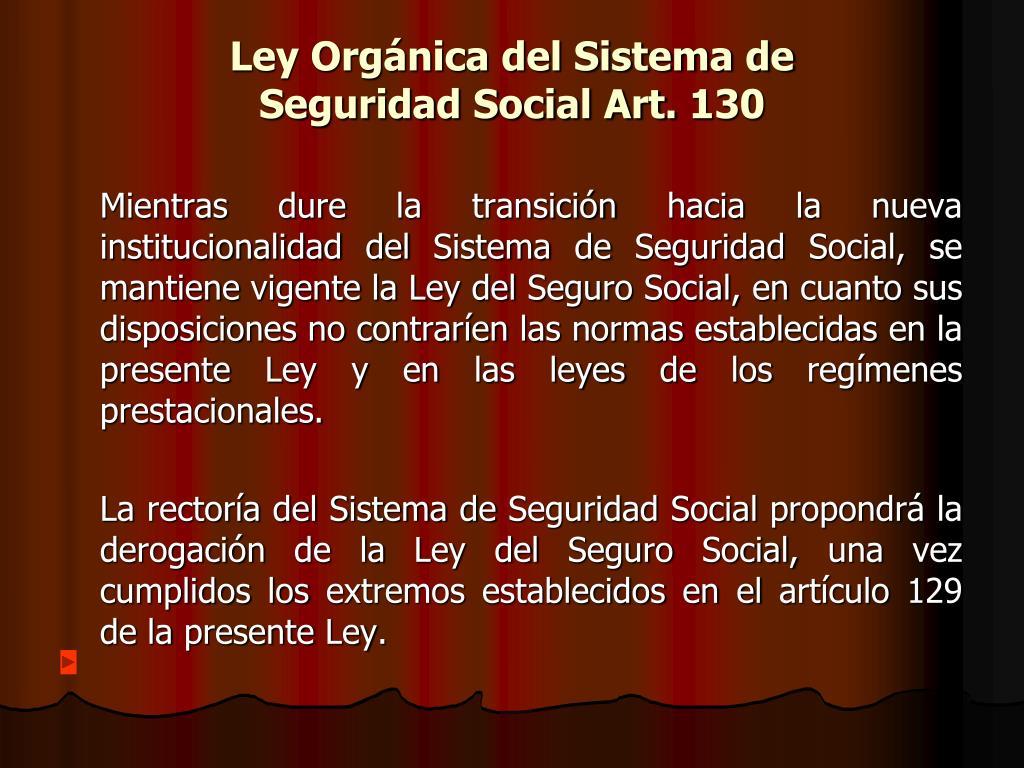 Ley Orgánica del Sistema de