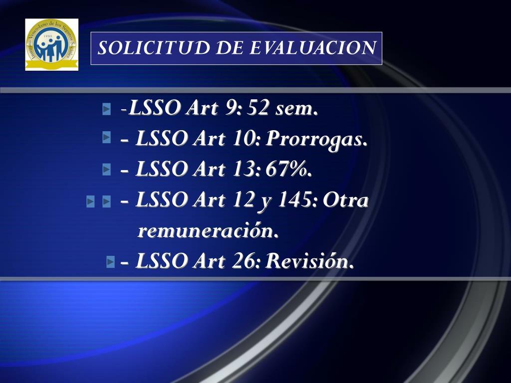 SOLICITUD DE EVALUACION