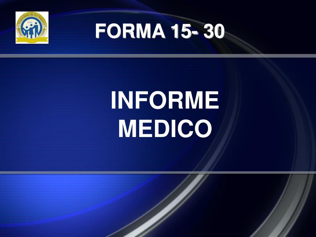 FORMA 15- 30