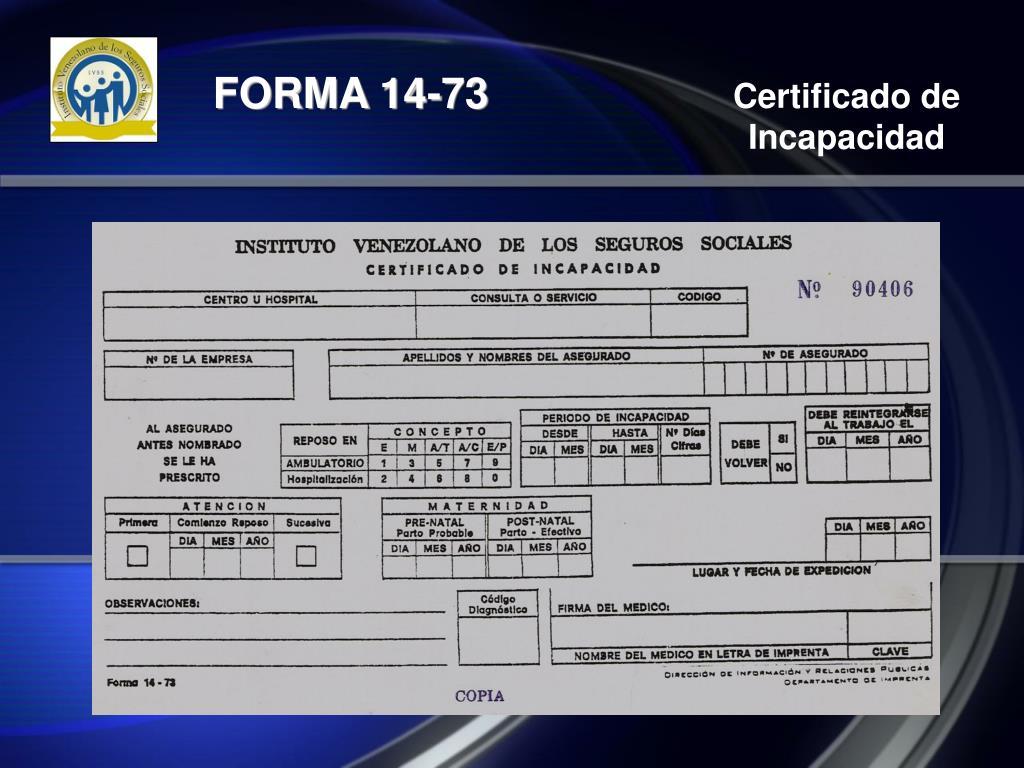 FORMA 14-73