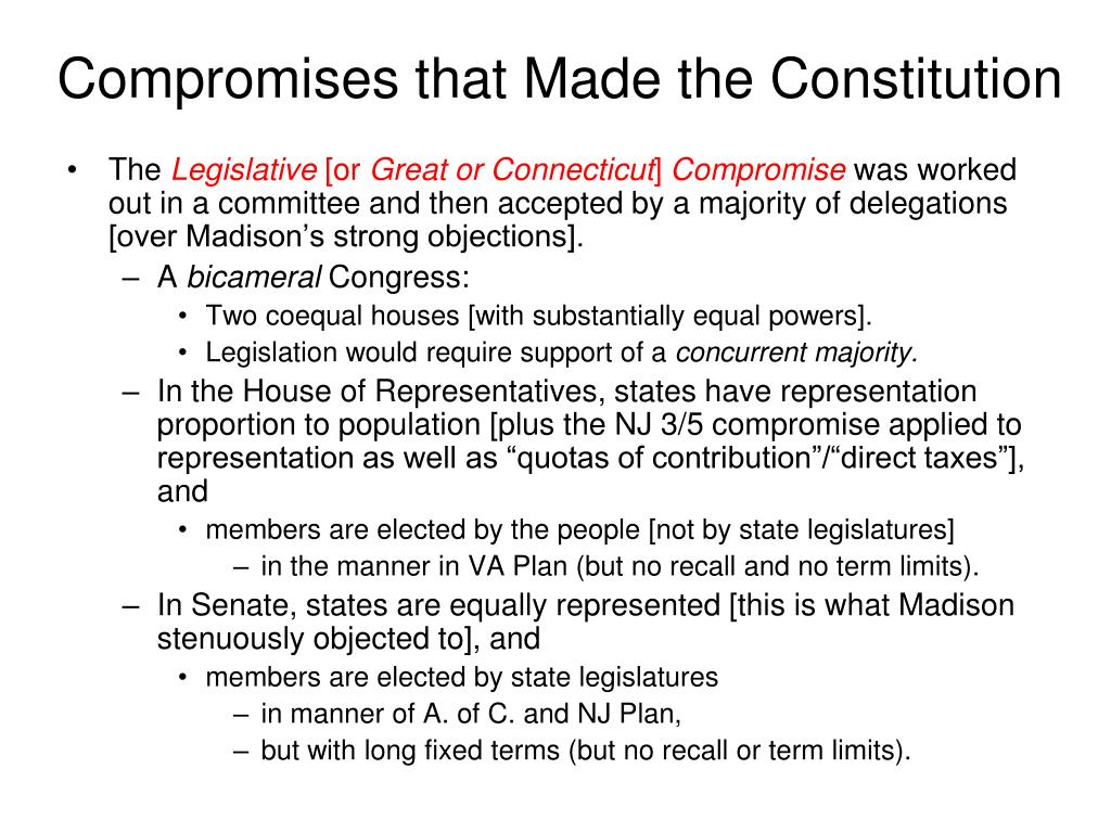 Compromises that Made the Constitution