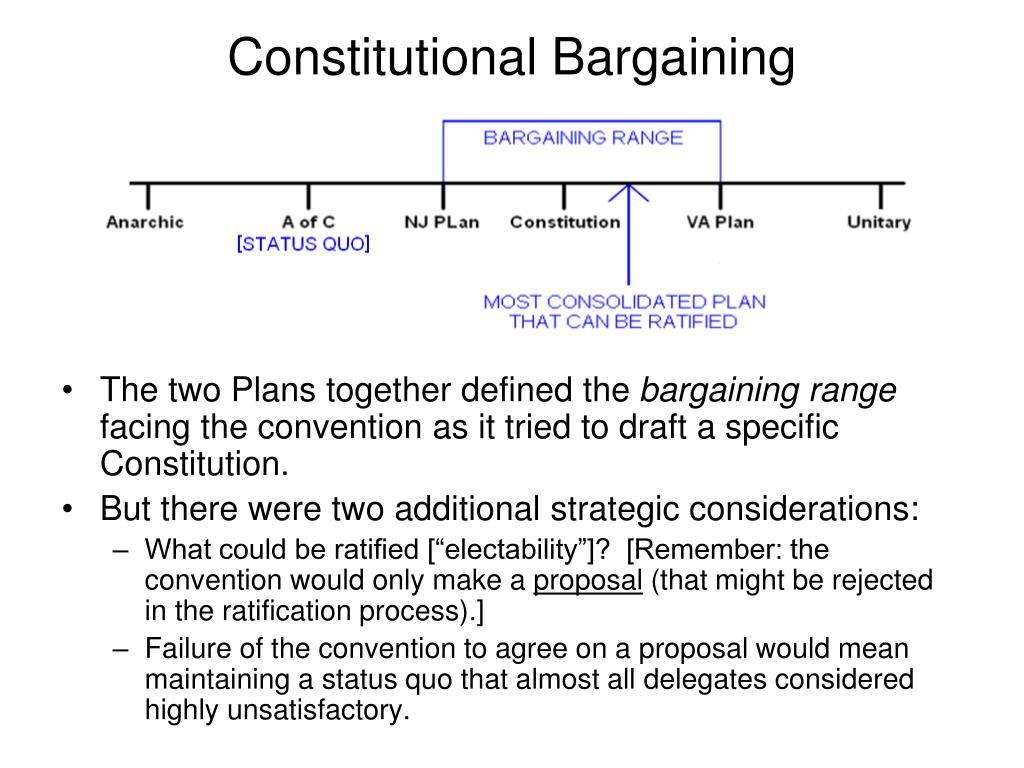 Constitutional Bargaining