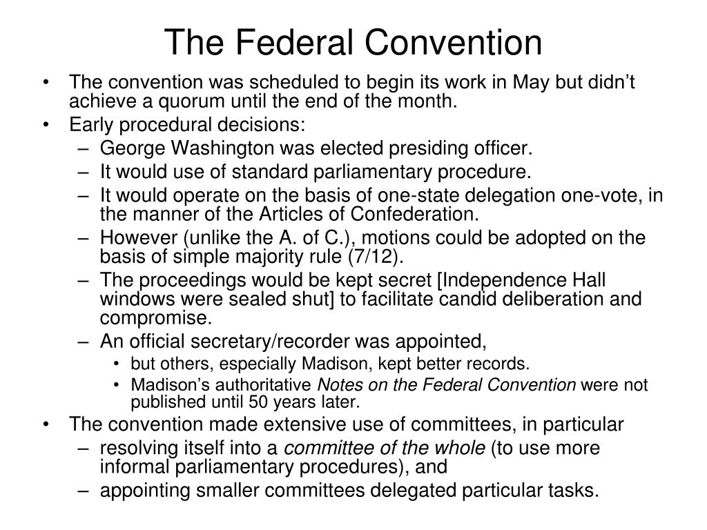 The Federal Convention