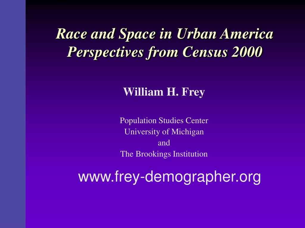 race and space in urban america perspectives from census 2000 l.