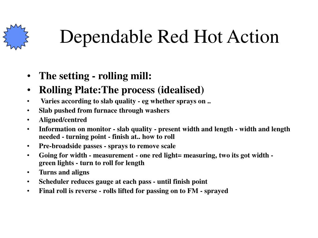 Dependable Red Hot Action
