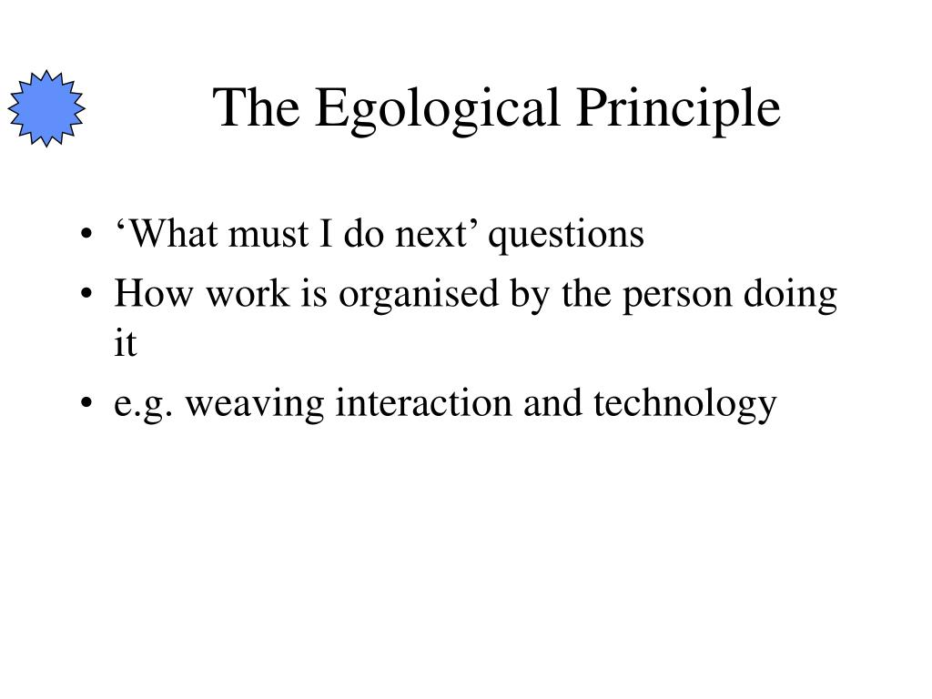 The Egological Principle