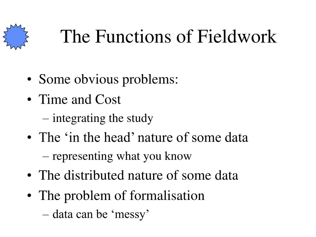 The Functions of Fieldwork