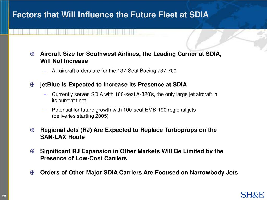 Factors that Will Influence the Future Fleet at SDIA