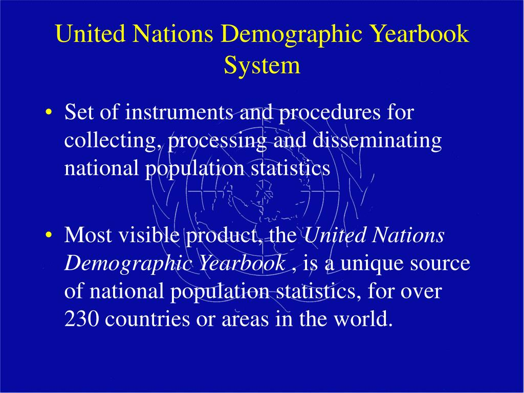 United Nations Demographic Yearbook  System