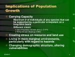 implications of population growth