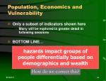 population economics and vulnerability