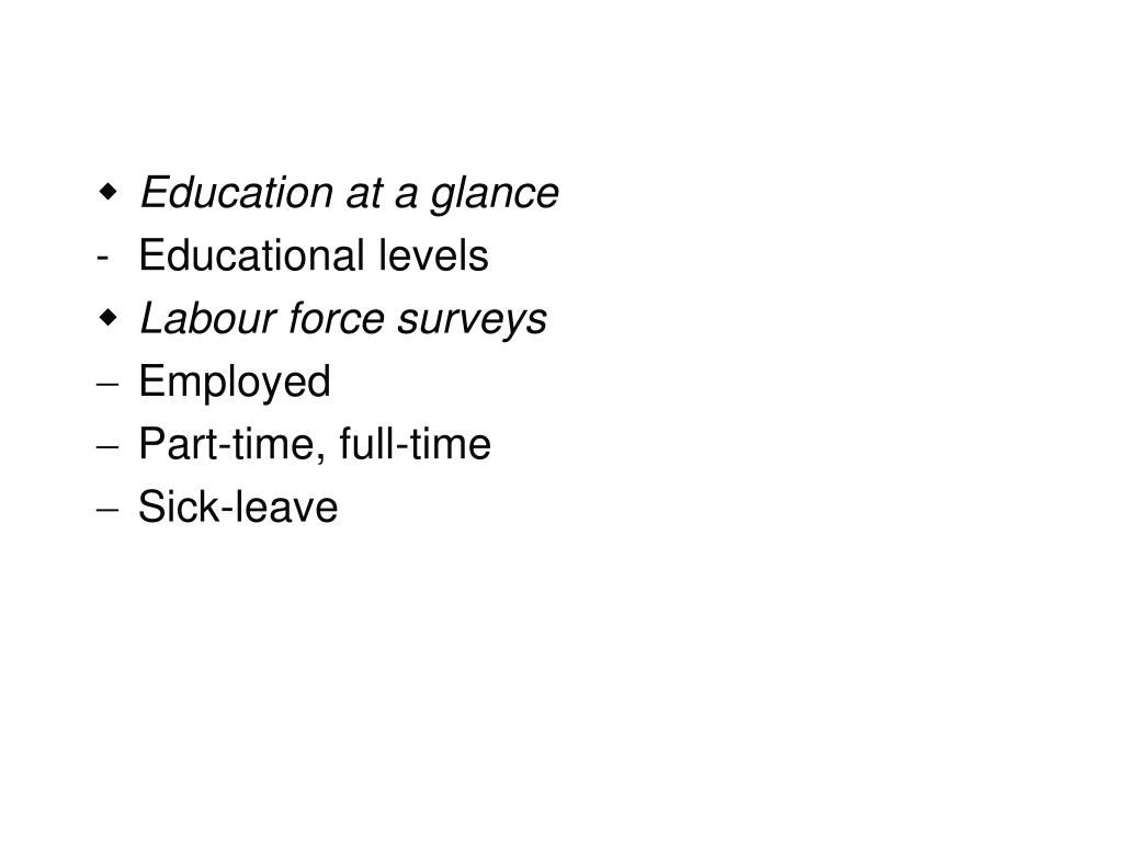 Education at a glance