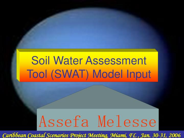 soil water assessment tool swat model input n.