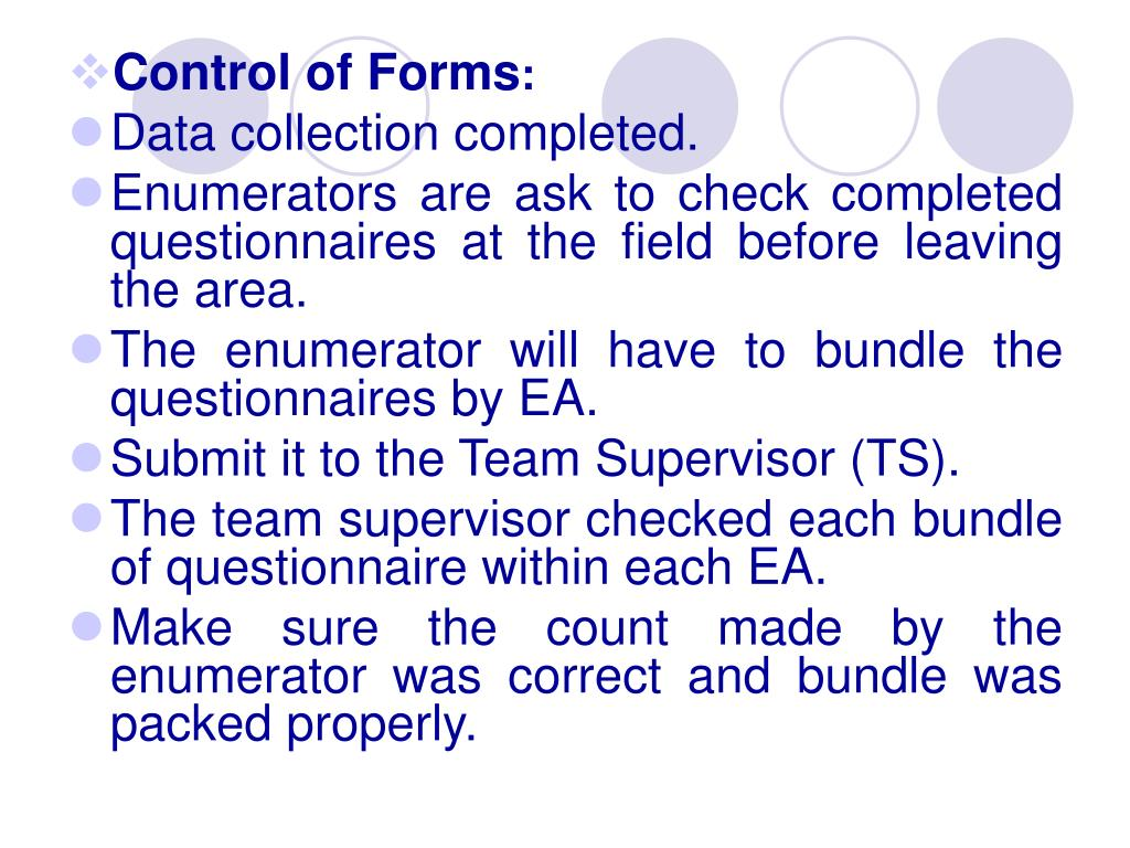 Control of Forms