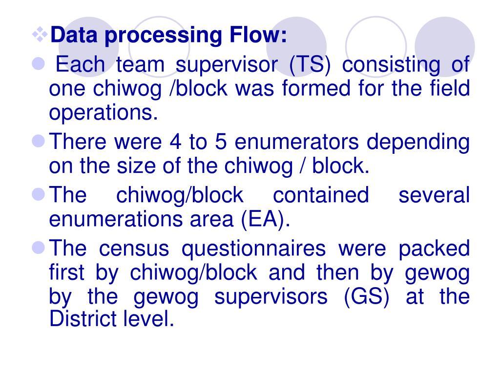 Data processing Flow:
