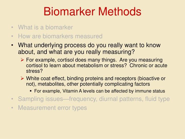 Biomarker Methods