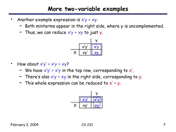 More two-variable examples