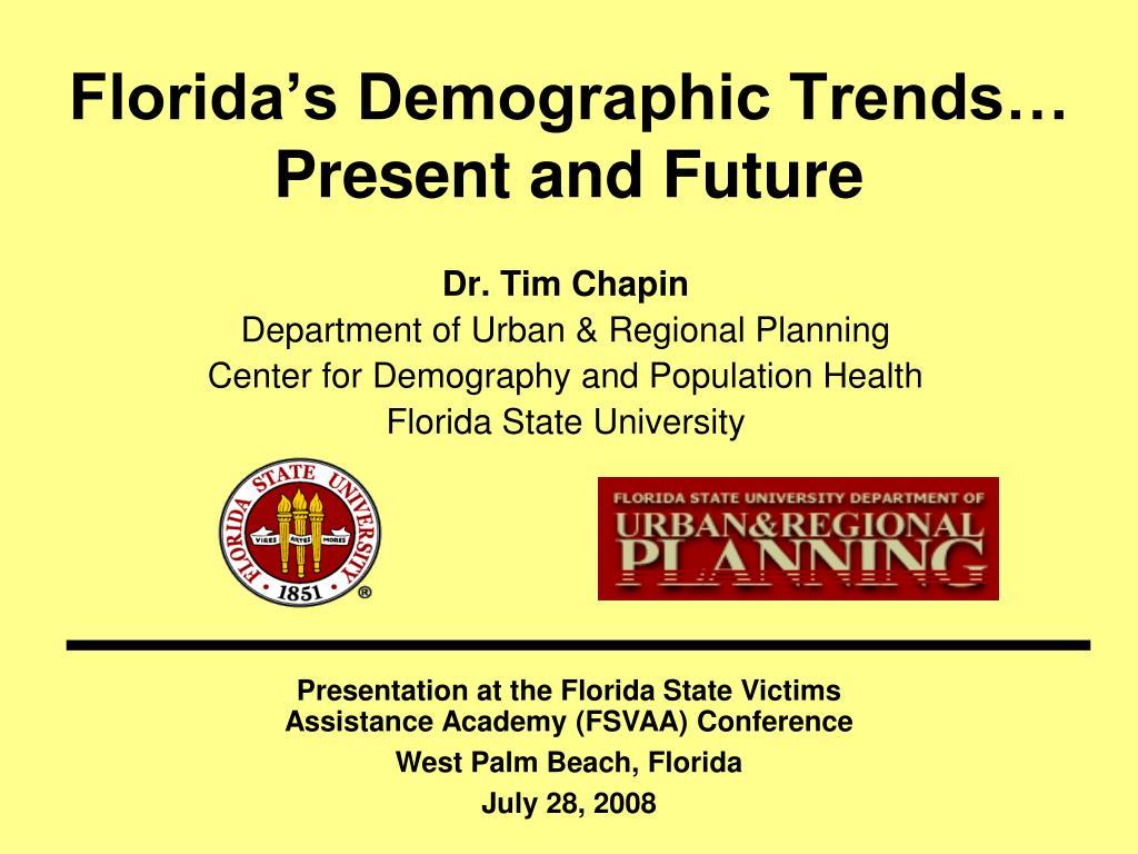florida s demographic trends present and future l.