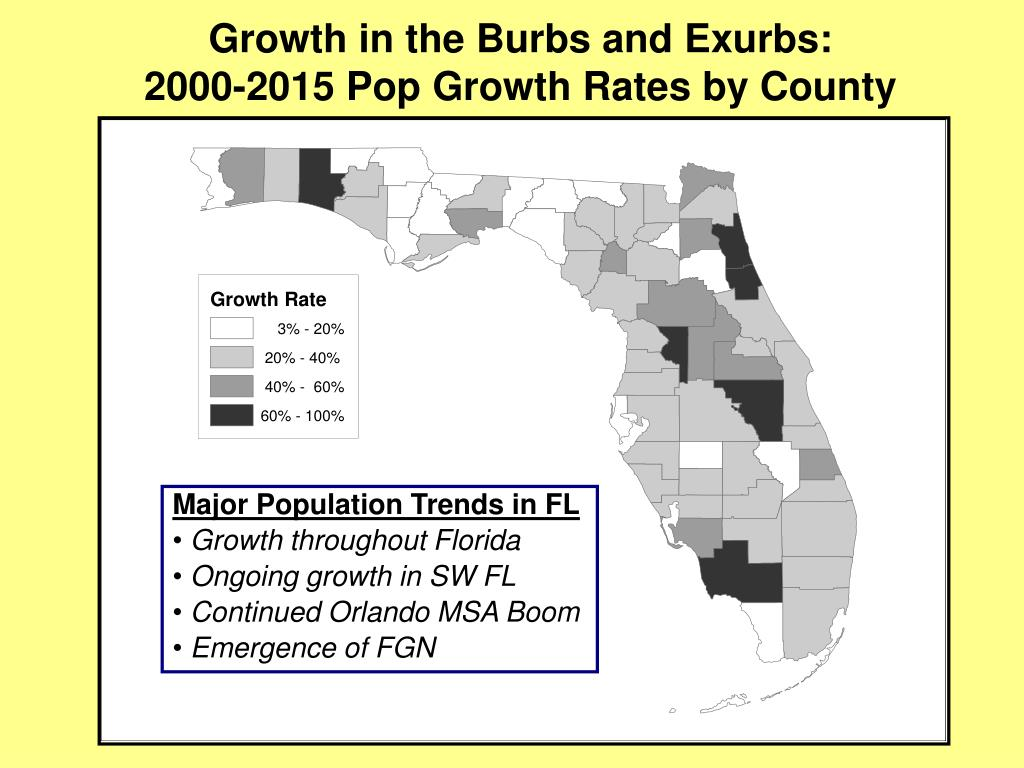 Growth in the Burbs and Exurbs: