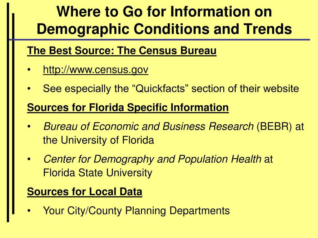 Where to Go for Information on