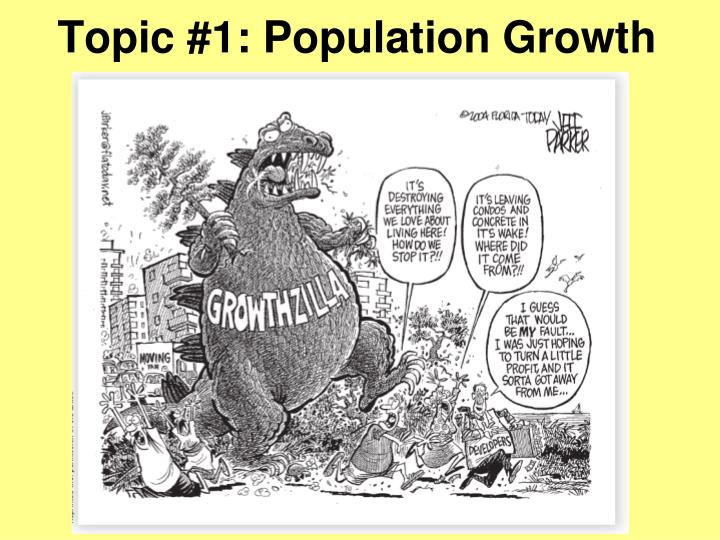 Topic 1 population growth