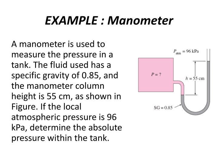 EXAMPLE : Manometer