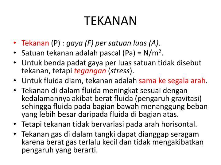 TEKANAN