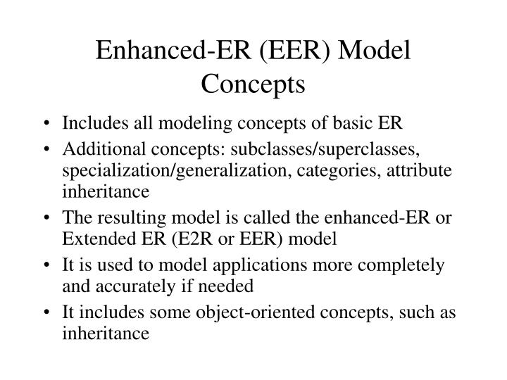Enhanced-ER (EER) Model Concepts