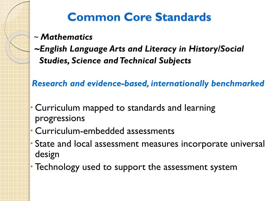 PPT - Revised NJ Core Curriculum Content Standards and the