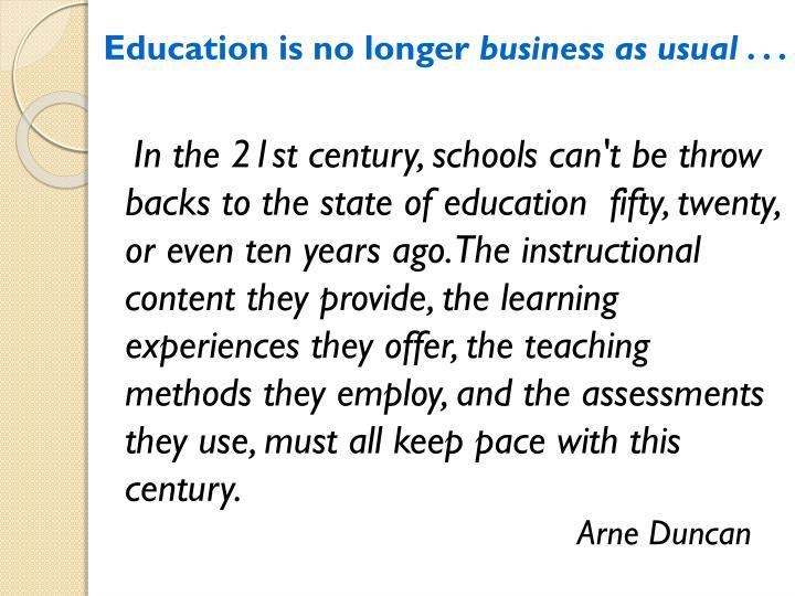Education is no longer