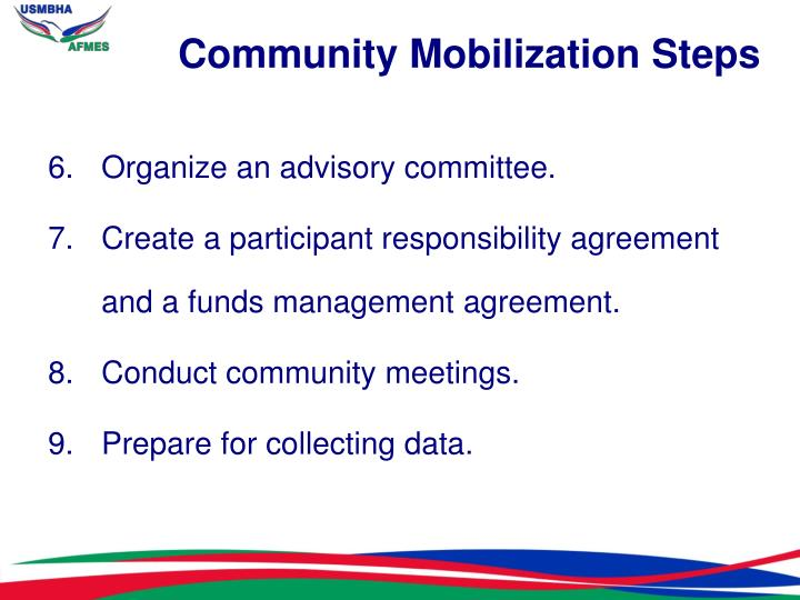 Community Mobilization Steps