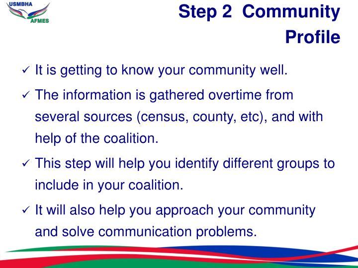 Step 2  Community