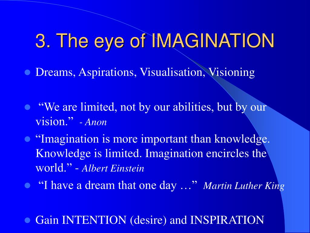 3. The eye of IMAGINATION