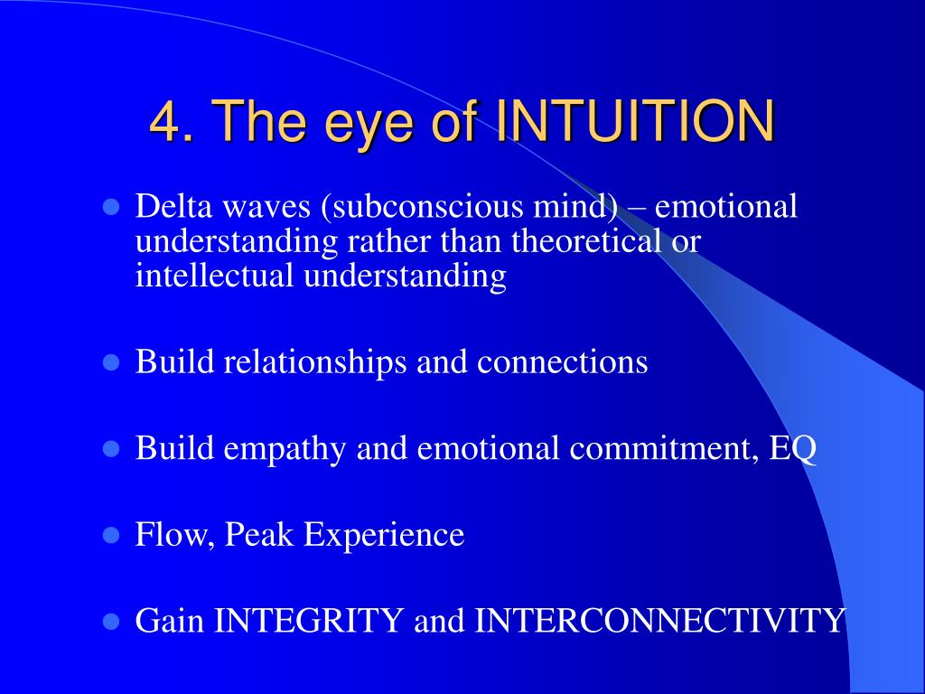 4. The eye of INTUITION