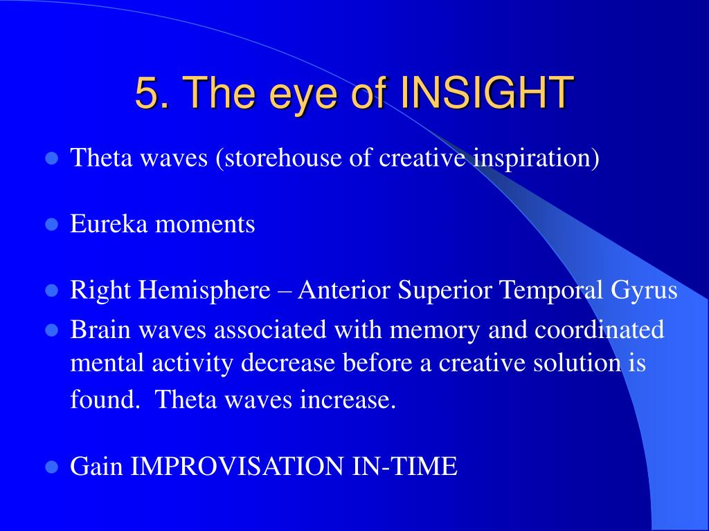 5. The eye of INSIGHT