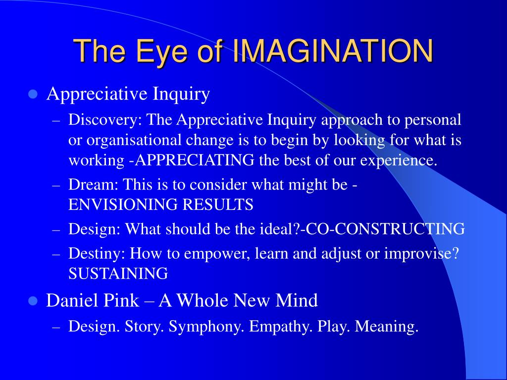 The Eye of IMAGINATION