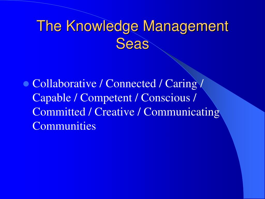 The Knowledge Management Seas