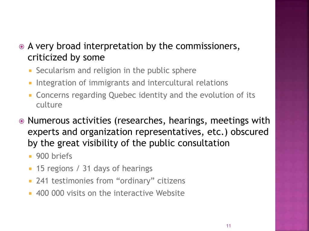 A very broad interpretation by the commissioners, criticized by some