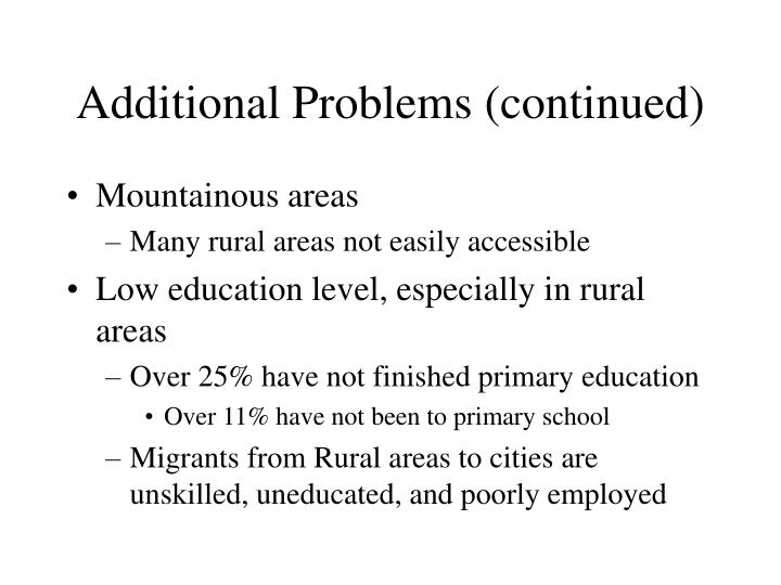 Additional Problems (continued)