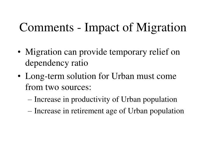 Comments - Impact of Migration