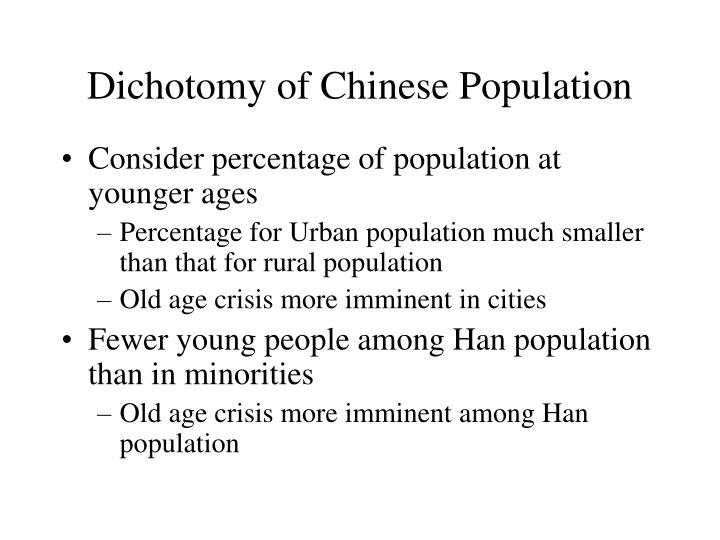 Dichotomy of Chinese Population