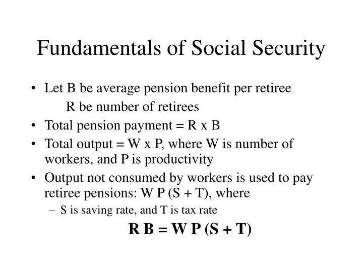 Fundamentals of Social Security