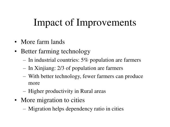 Impact of Improvements