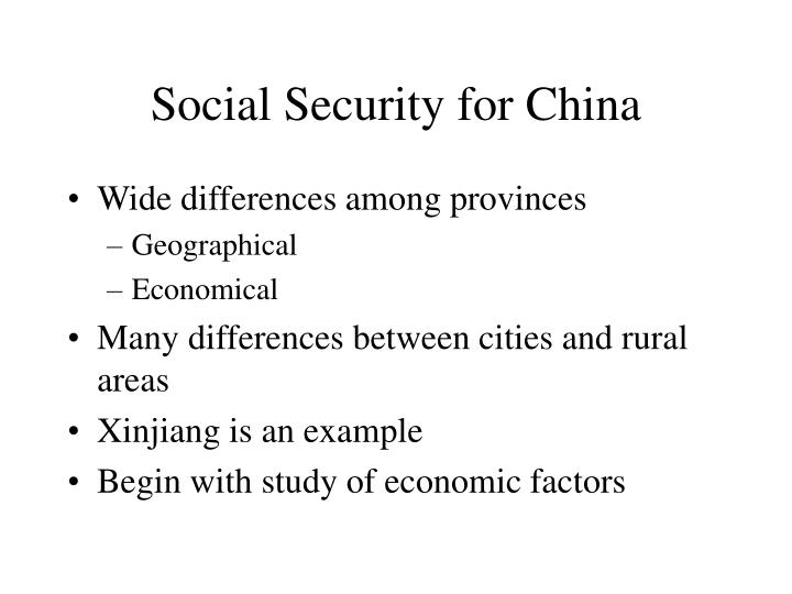 Social Security for China