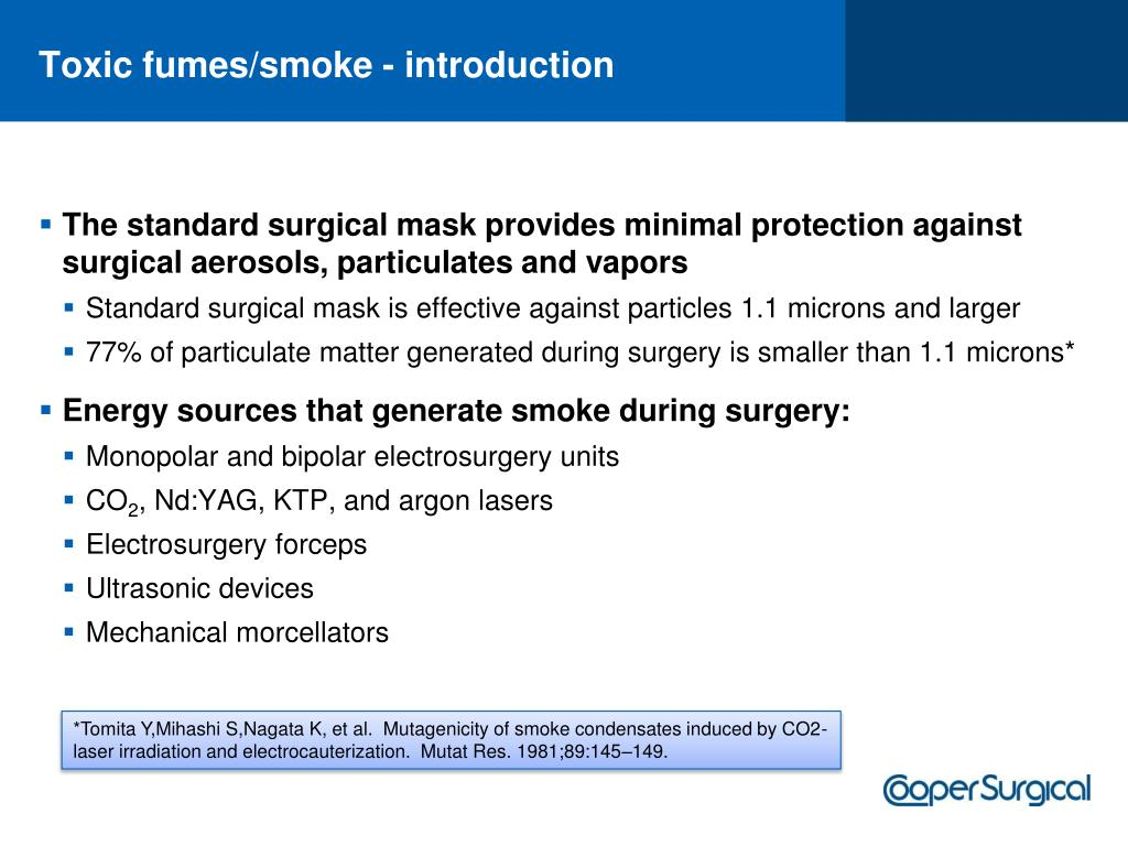 Toxic fumes/smoke - introduction